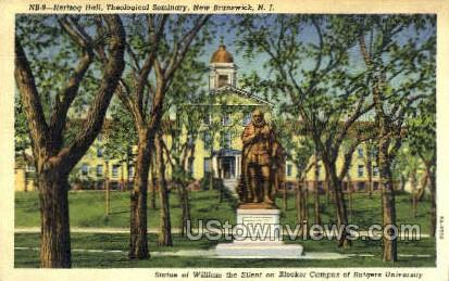 Hertzog Hall Theological Seminary  - New Brunswick, New Jersey NJ Postcard
