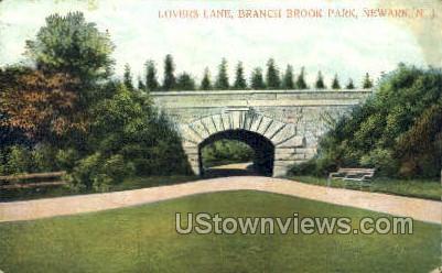 Lovers Lane - Newark, New Jersey NJ Postcard