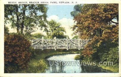 Rustic Bridge In Branch Brook Park - Newark, New Jersey NJ Postcard