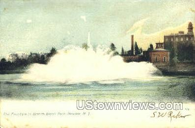 The Fountain In Branch Brook Park - Newark, New Jersey NJ Postcard