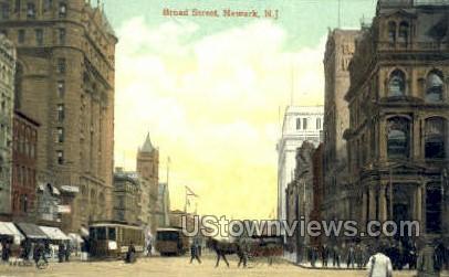Broad Street Towards Market  - Newark, New Jersey NJ Postcard