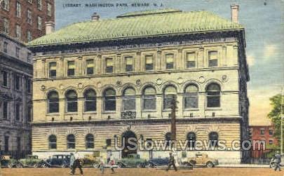 Library Washington Park - Newark, New Jersey NJ Postcard