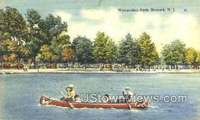 Weequahic Park - Newark, New Jersey NJ Postcard