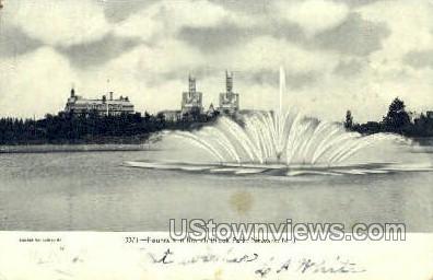 Fountain In Branch Brook Park - Newark, New Jersey NJ Postcard