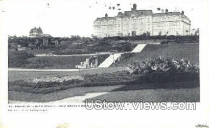 Public High School - Newark, New Jersey NJ Postcard