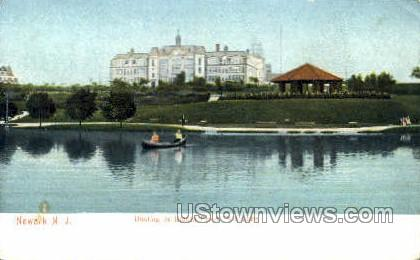 Boating On Branch Brook Park Lake - Newark, New Jersey NJ Postcard