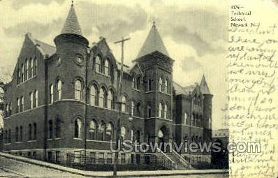 Technical School - Newark, New Jersey NJ Postcard