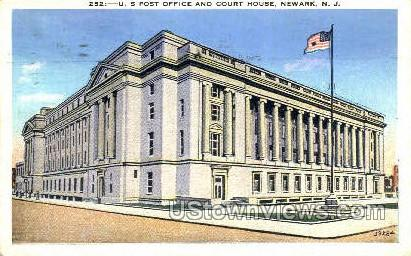 Us Post Office And Court House - Newark, New Jersey NJ Postcard