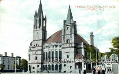 Peddie Memorial Church  - Newark, New Jersey NJ Postcard