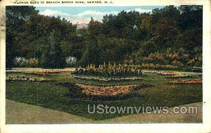 Flower Beds In Branch Brook Park - Newark, New Jersey NJ Postcard