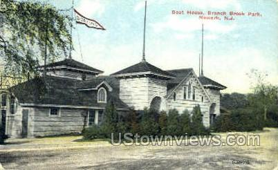 Boat House Branch Brook Park - Newark, New Jersey NJ Postcard