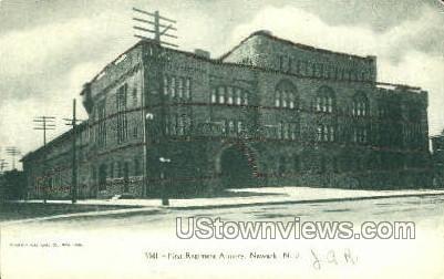 First Regiment Armory - Newark, New Jersey NJ Postcard