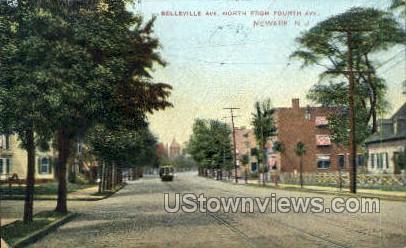 Belleville Avenue - Newark, New Jersey NJ Postcard