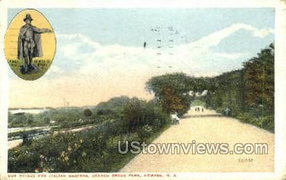 Sun House And Italian Gardens - Newark, New Jersey NJ Postcard