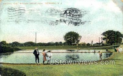 Wading Pool Branch Brook Park - Newark, New Jersey NJ Postcard