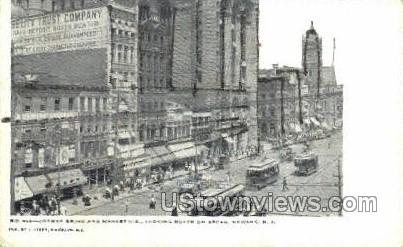 Broad And Market Street  - Newark, New Jersey NJ Postcard