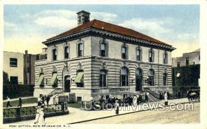 Post Office - New Brunswick, New Jersey NJ Postcard