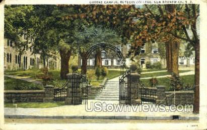 Queens Campus Rutgers College - New Brunswick, New Jersey NJ Postcard