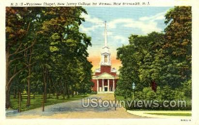 Voorhees Chapel College For Women - New Brunswick, New Jersey NJ Postcard