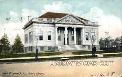 Public Library - New Brunswick, New Jersey NJ Postcard