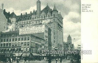 Broad Street And Market Street - Newark, New Jersey NJ Postcard