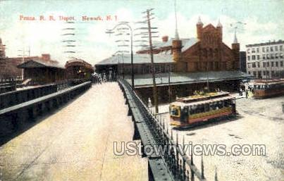 Penna Rr Depot - Newark, New Jersey NJ Postcard