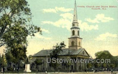 Trinity Church  - Newark, New Jersey NJ Postcard
