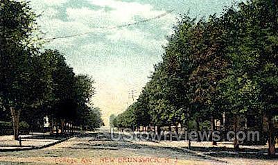 College Avenue  - New Brunswick, New Jersey NJ Postcard