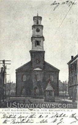 Reformed Church  - New Brunswick, New Jersey NJ Postcard