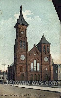 Second Reformed Church  - New Brunswick, New Jersey NJ Postcard