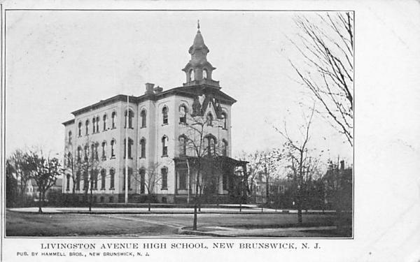 Livingston Avenue High School New Brunswick, New Jersey Postcard