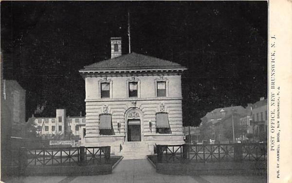 Post Office  New Brunswick, New Jersey Postcard