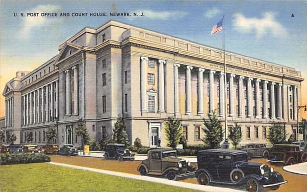 U.S. Post Office and Court House Newark, New Jersey Postcard
