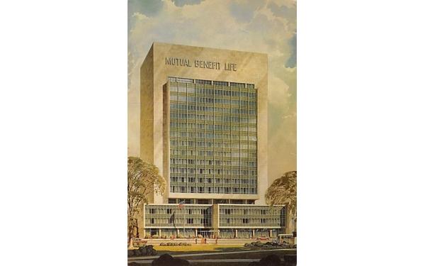 Mutual Benefit Life Insurance Company  Newark, New Jersey Postcard