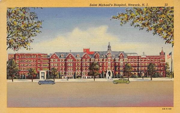 Saint Michael's Hospital Newark, New Jersey Postcard