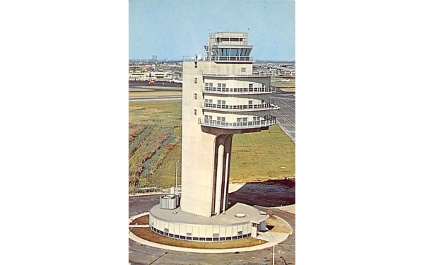 New Airport Control Tower Newark, New Jersey Postcard