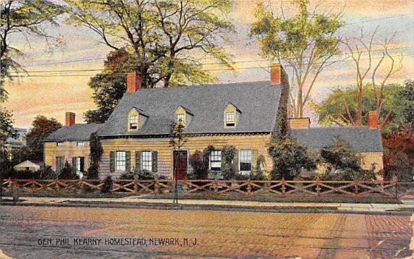 Gen. Phil Kearny Homestead Newark, New Jersey Postcard