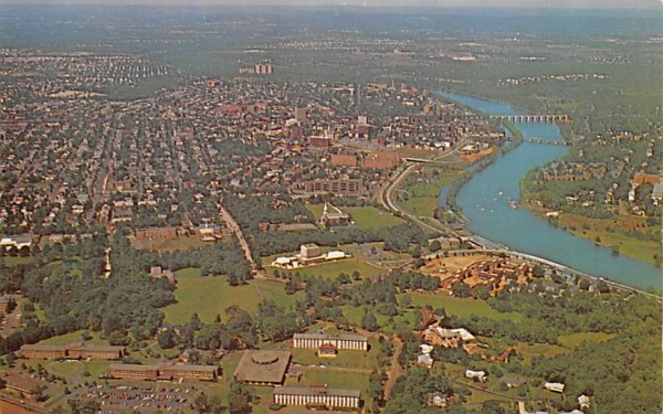 Airview of New Brunswick New Jersey Postcard