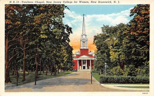Voorhees Chapel, New Jersey College for Women Postcard