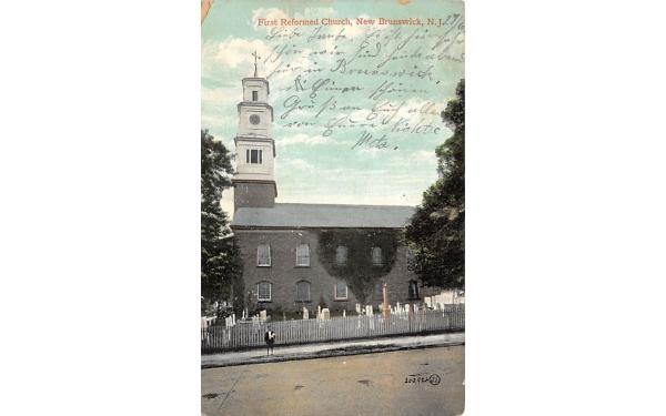 First Reformed Church New Brunswick, New Jersey Postcard