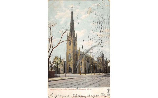 St. Patricks Cathedral  Newark, New Jersey Postcard