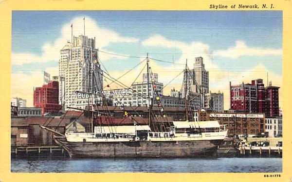 Skyline of Newark New Jersey Postcard