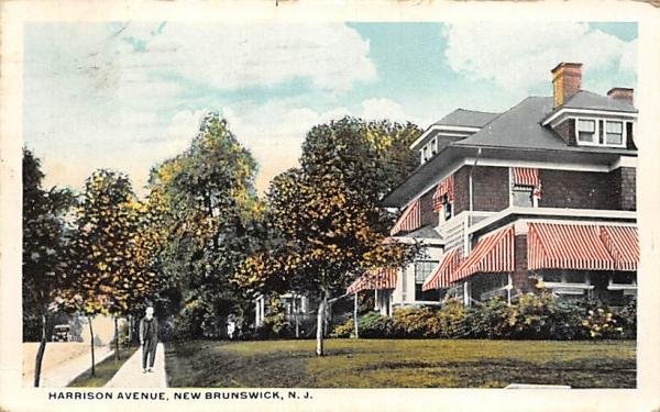 Harrison Avenue New Brunswick, New Jersey Postcard