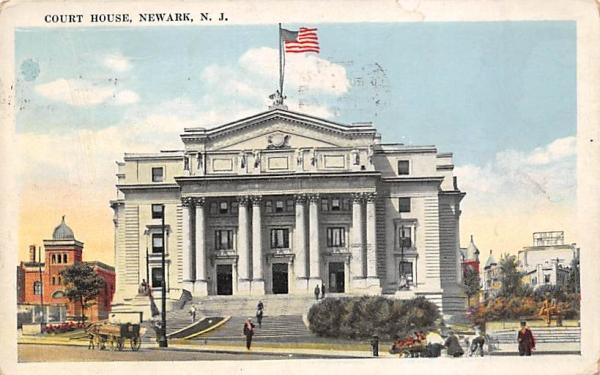 Court House Newark, New Jersey Postcard