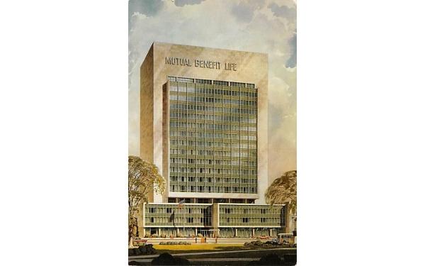 Mutual Benefit Life Insurance Co. Newark, New Jersey Postcard