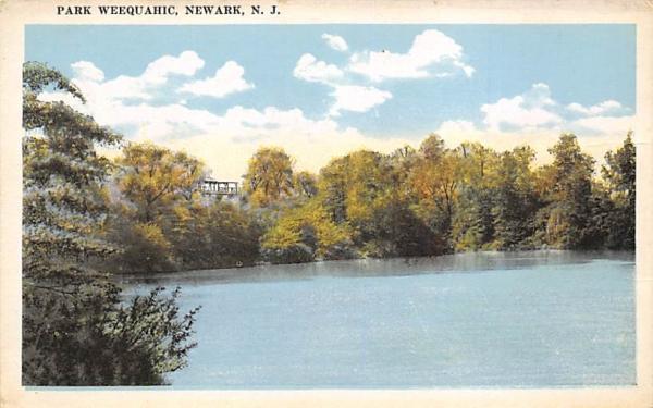 Park Weequahic Newark, New Jersey Postcard
