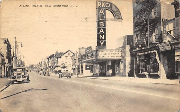 Albany Theatre  New Brunswick, New Jersey Postcard