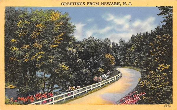 Greetings from Newark New Jersey Postcard