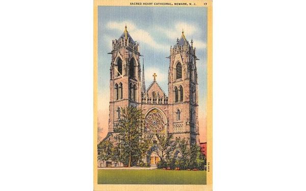 Sacred Heart Cathedral Newark, New Jersey Postcard