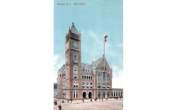 Post Office Newark, New Jersey Postcard